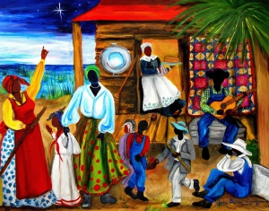Gullah Christmas art by Diane Britton Dunham