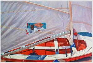 Jesma Noel - Grenada - Boat & Sail-acrylic on canvas